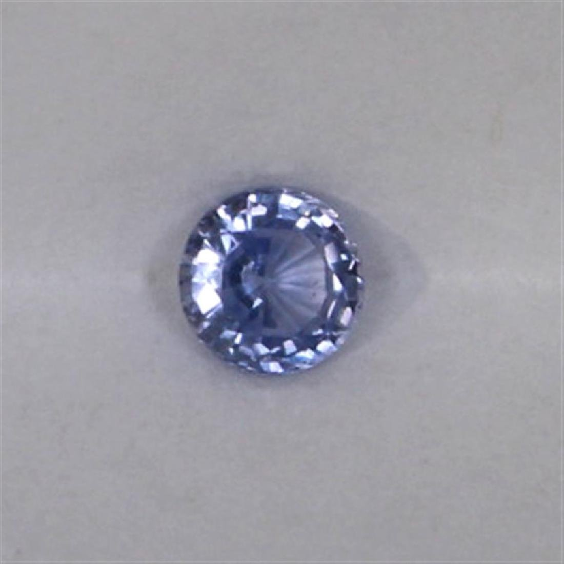 0.75ct Natural ceylon blue Sapphire round cut