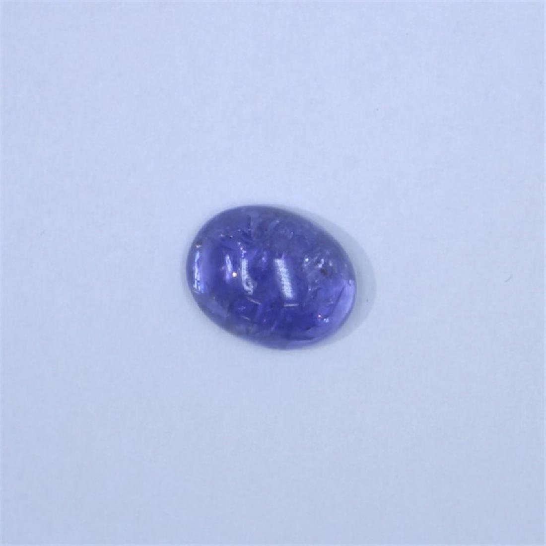 5.43ct Tanzanite cab oval cut