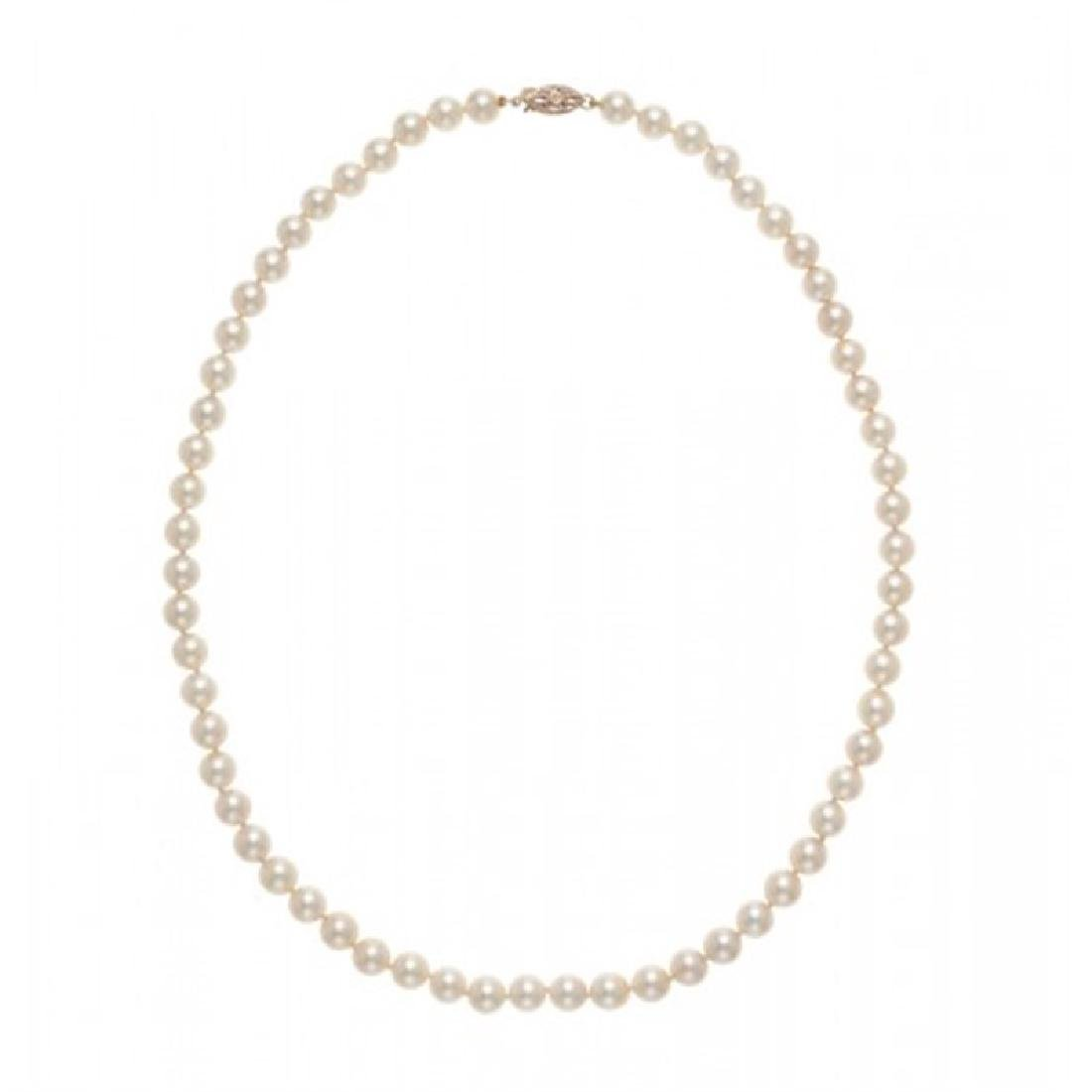 6.5-7.0mm Japanese Akoya Pearl Necklace