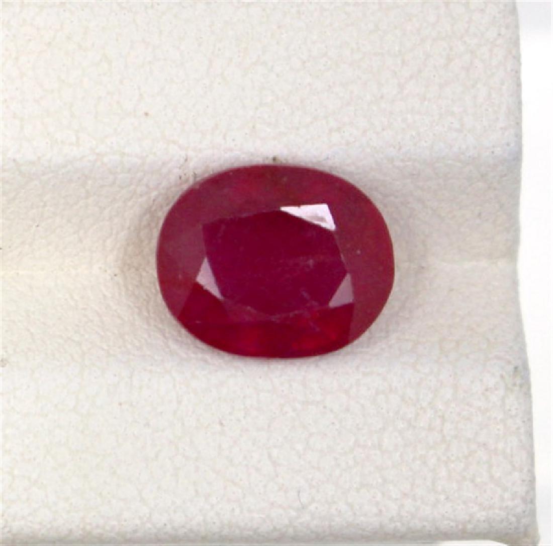 4.2ct  ruby oval cut