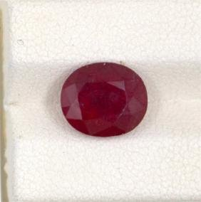 3.98ct  Ruby Oval Cut