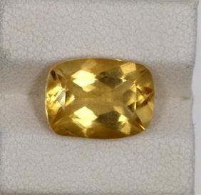 4.86ct Natural Citrine Emerald Cut