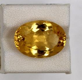 11.95ct Natural Citrine Oval Cut