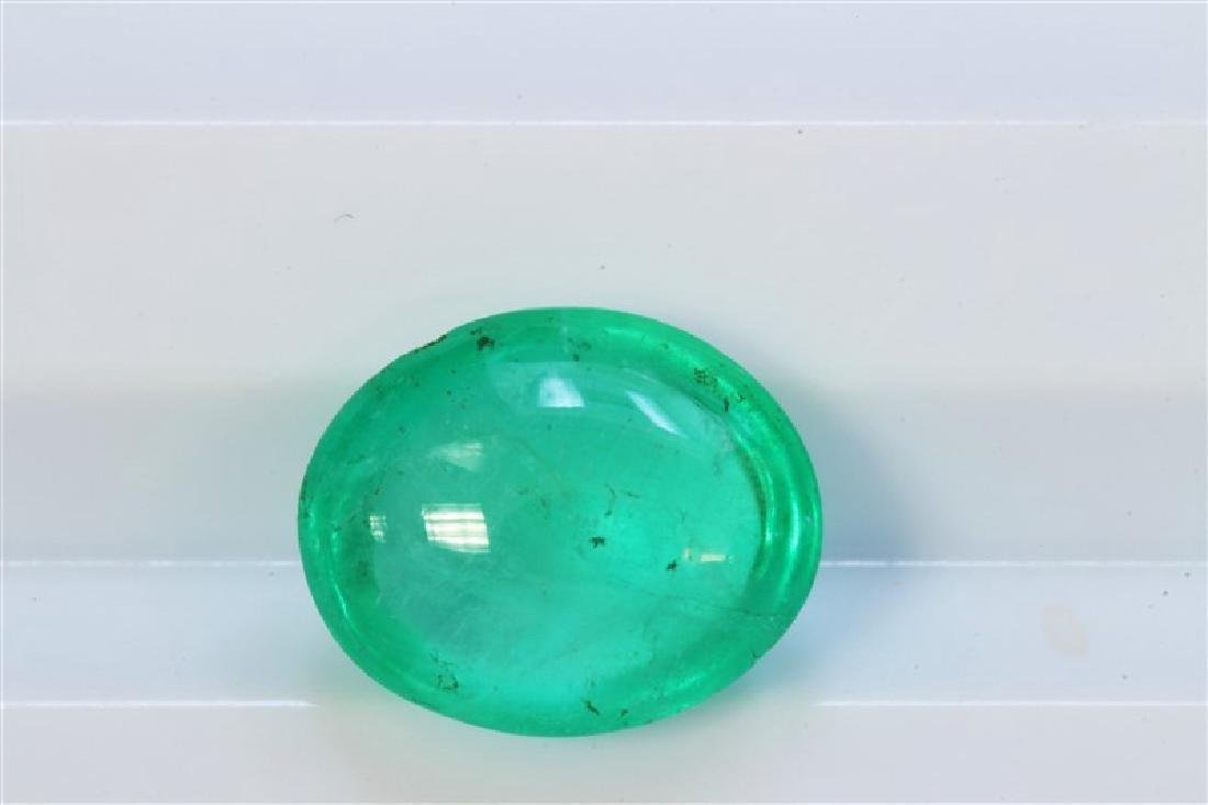 2.37ct Cushion Shape Columbian Emerald Cabochon