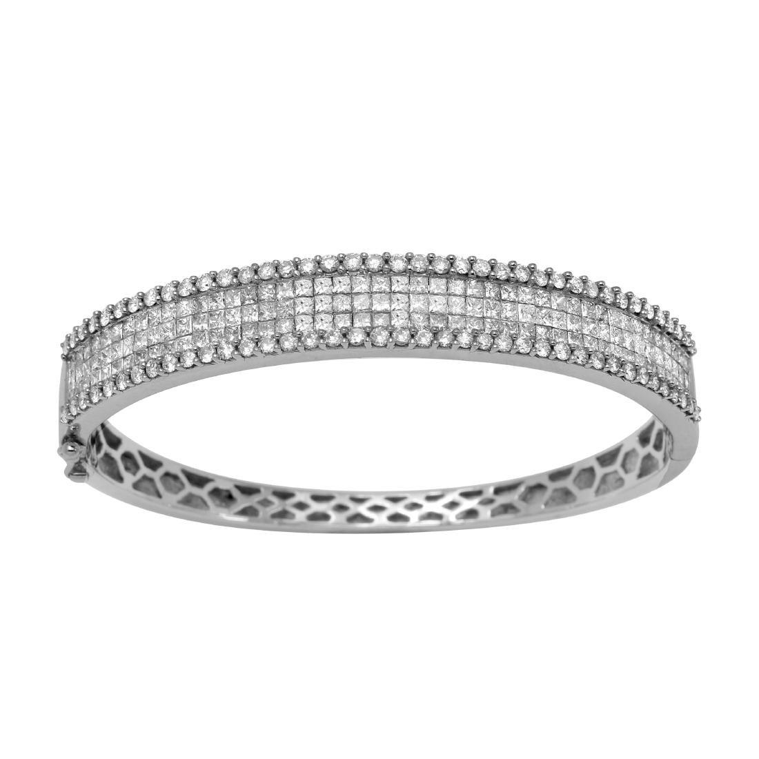 5.44ct Diamond 14K White Gold Bracelet