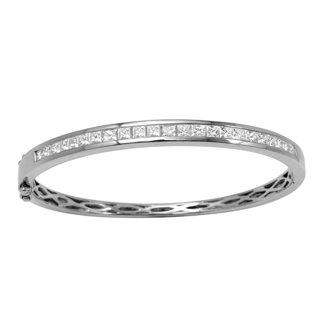 2.68ct Diamond 18K White Gold Bracelet