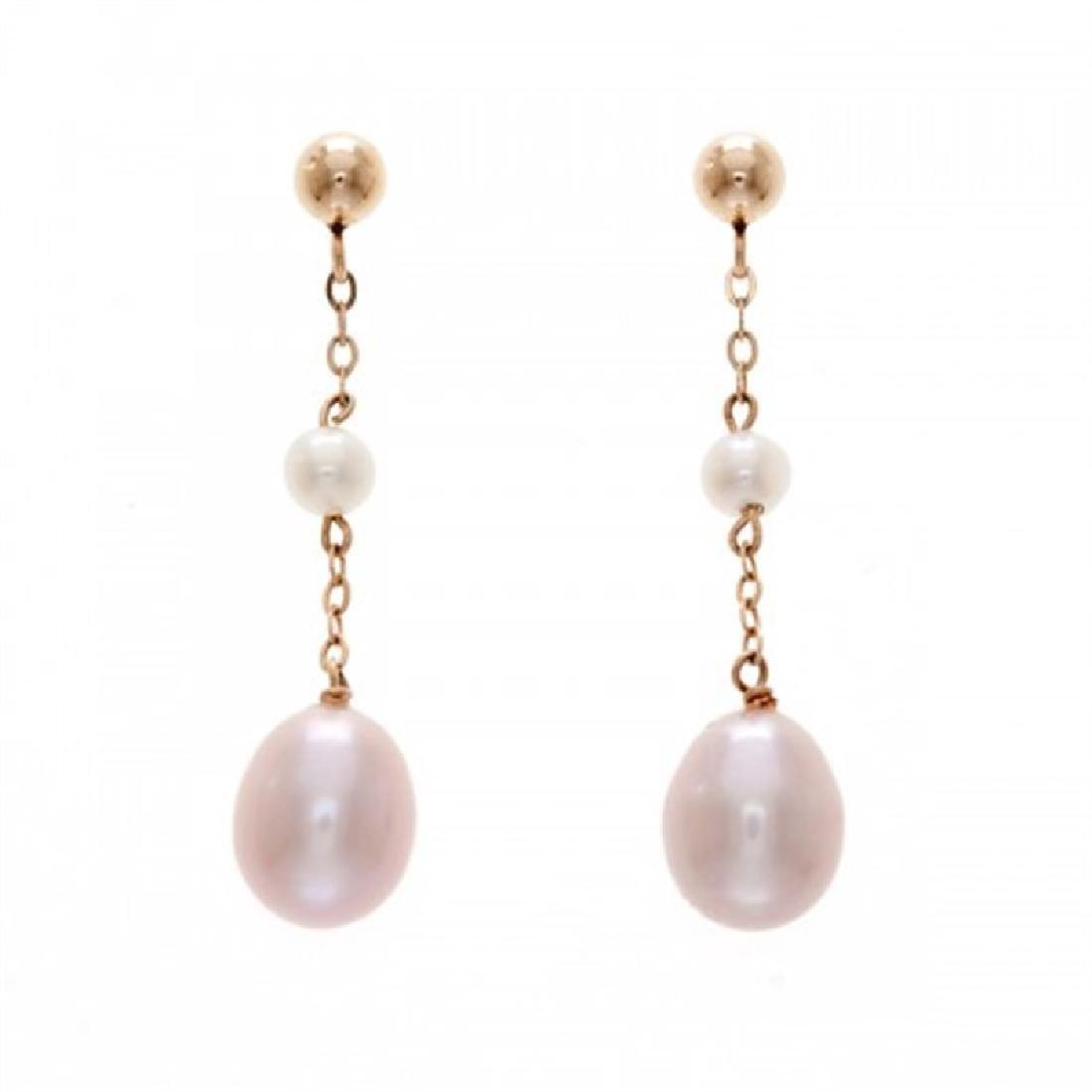 7.5-8.0mm Freshwater Pearl Drop Earrings