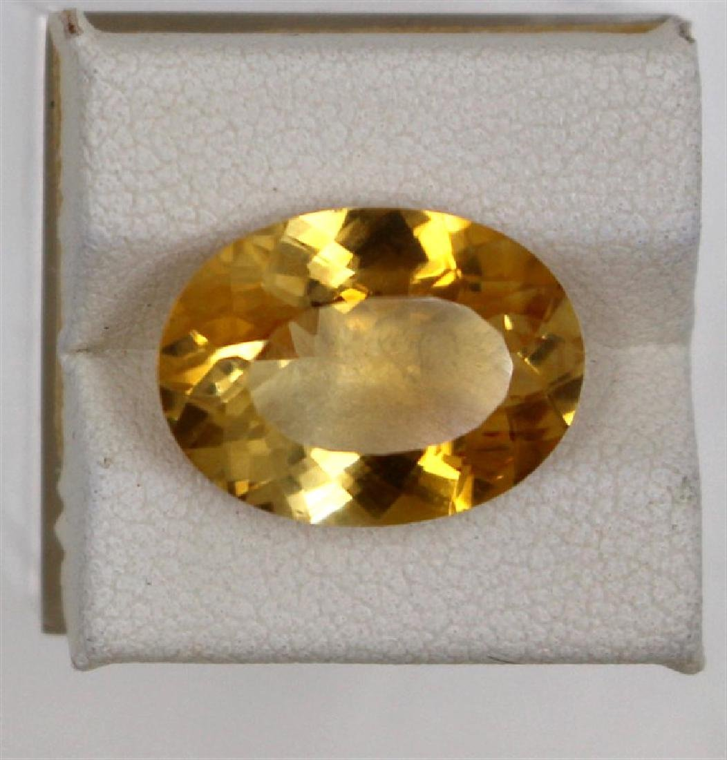 8.01ct Natural citrine oval cut