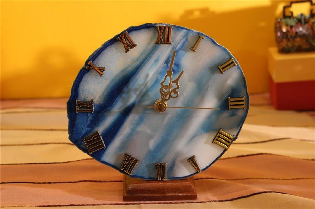 Clock-Agate (15-16Cm) Nr.7 Assorted Color Gift Item