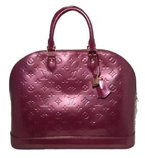 Louis Vuitton Purple Vernis Monogram Alma Handbag