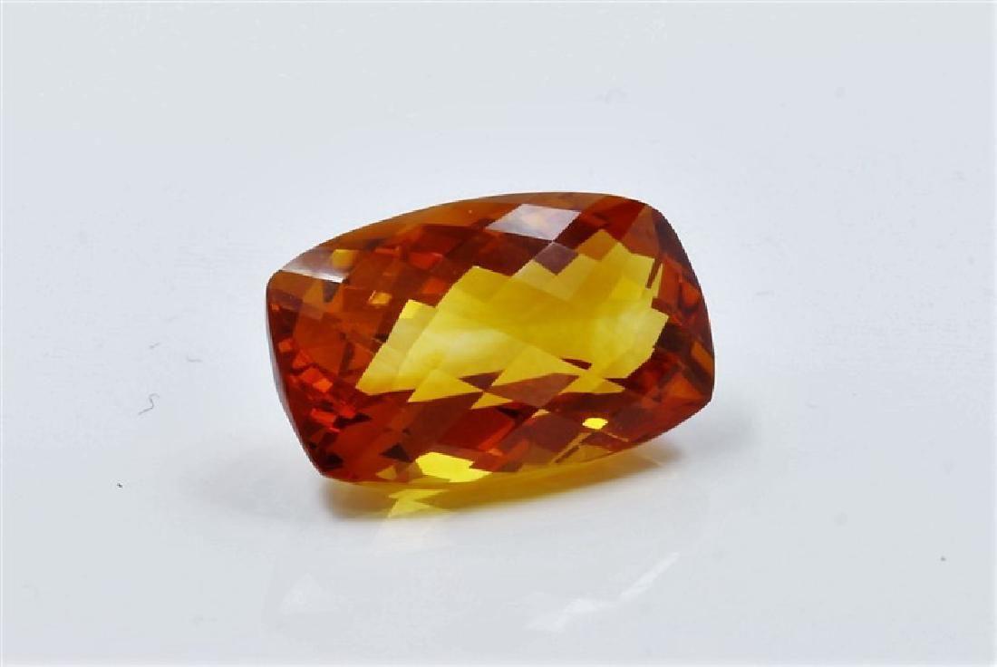 861ct Emerald Shape mandarin Citrine