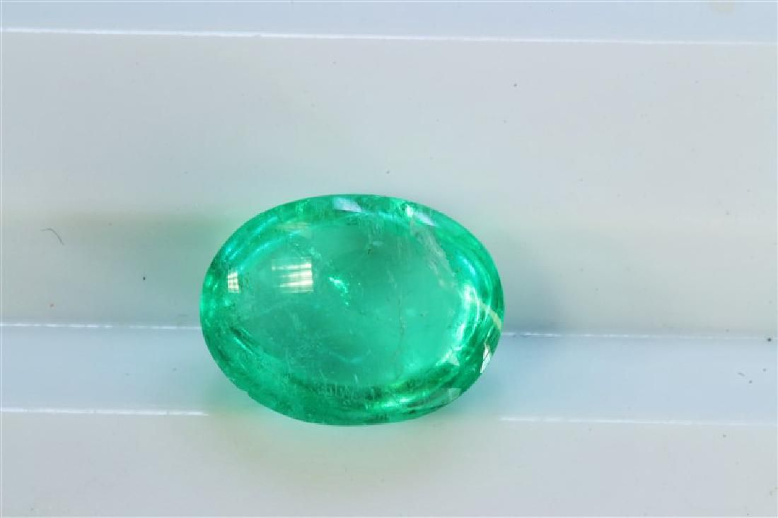 192ct Oval Shape Columbian Emerald Cabochon