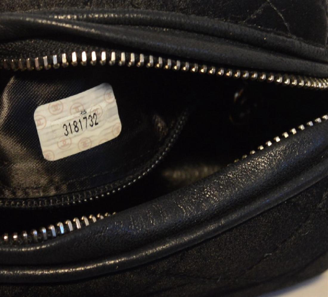 Chanel Vintage Black Quilted Satin Shoulder Bag - 3