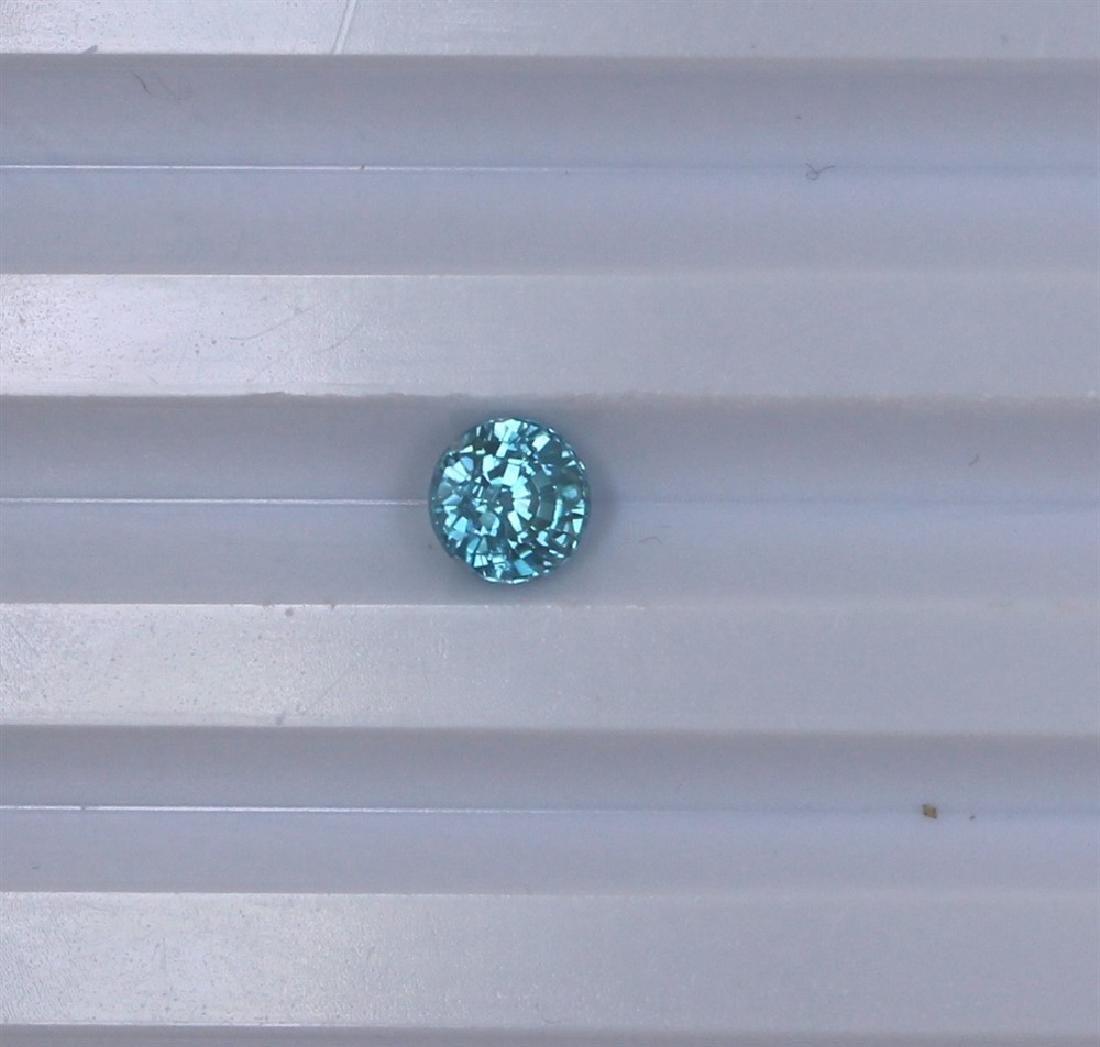 1.83ct Blue Zircon Round cut