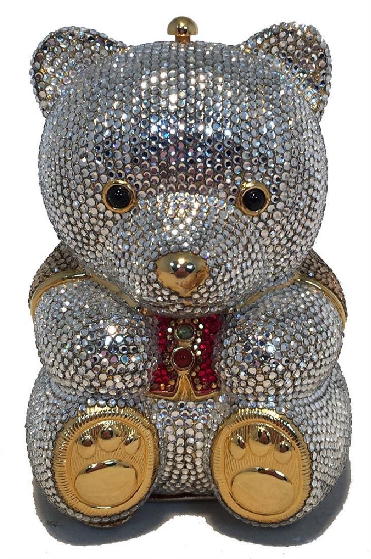 Judith Leiber Swarovski Crystal Teddy Bear Minaudiere