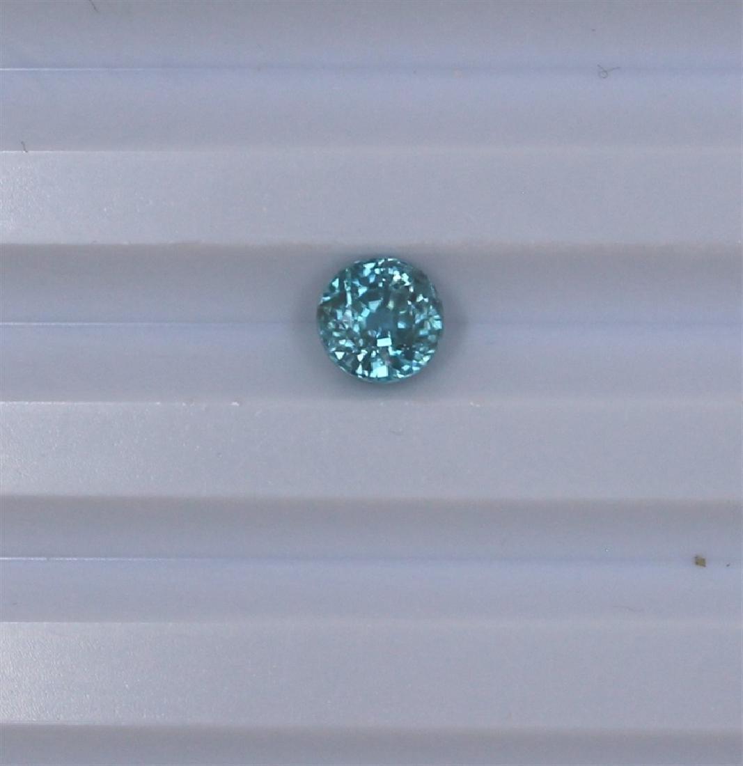 1.75ct Blue Zircon Round cut