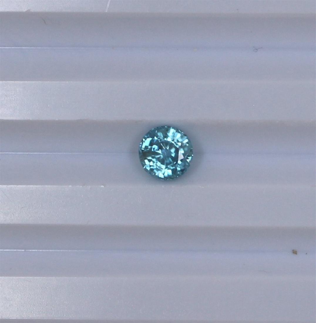 1.79ct Blue Zircon Round cut