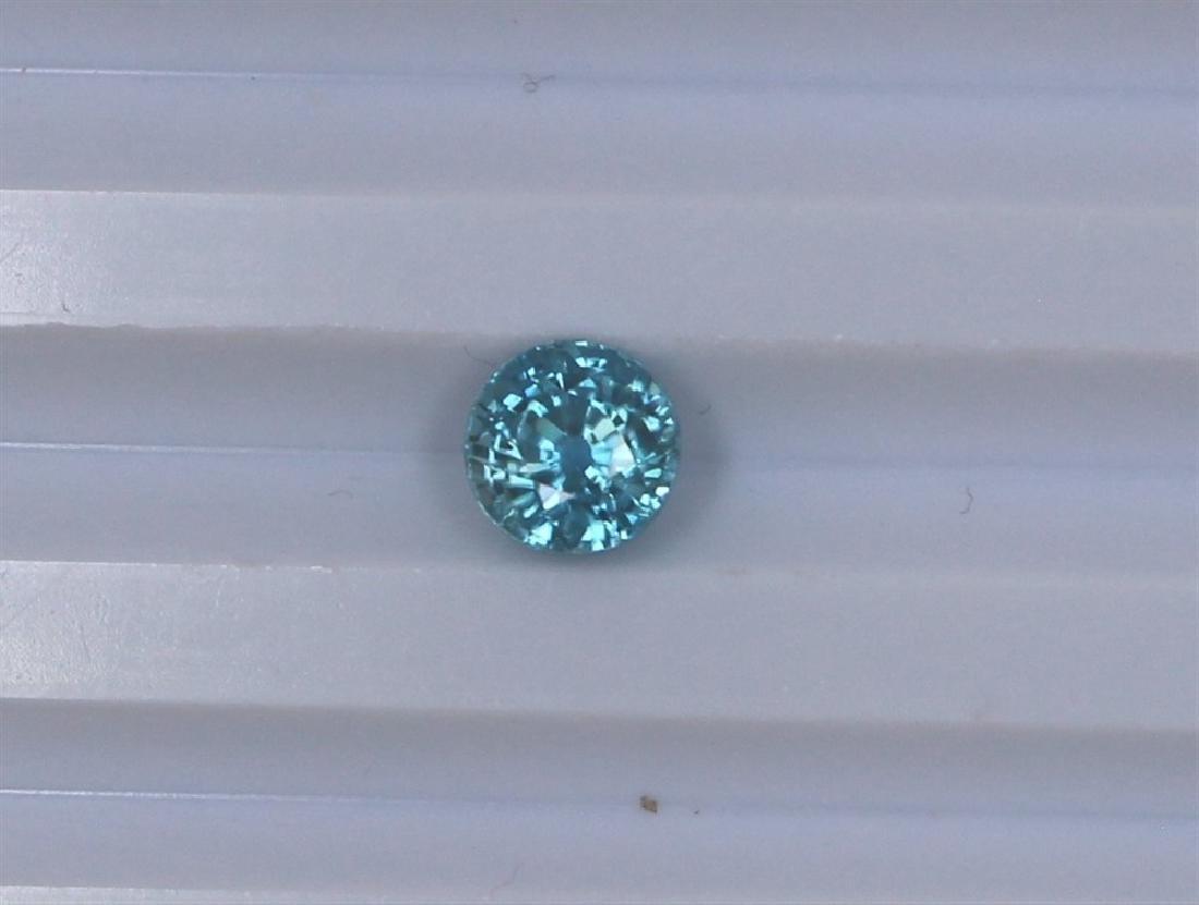 2.88ct Blue Zircon Round cut