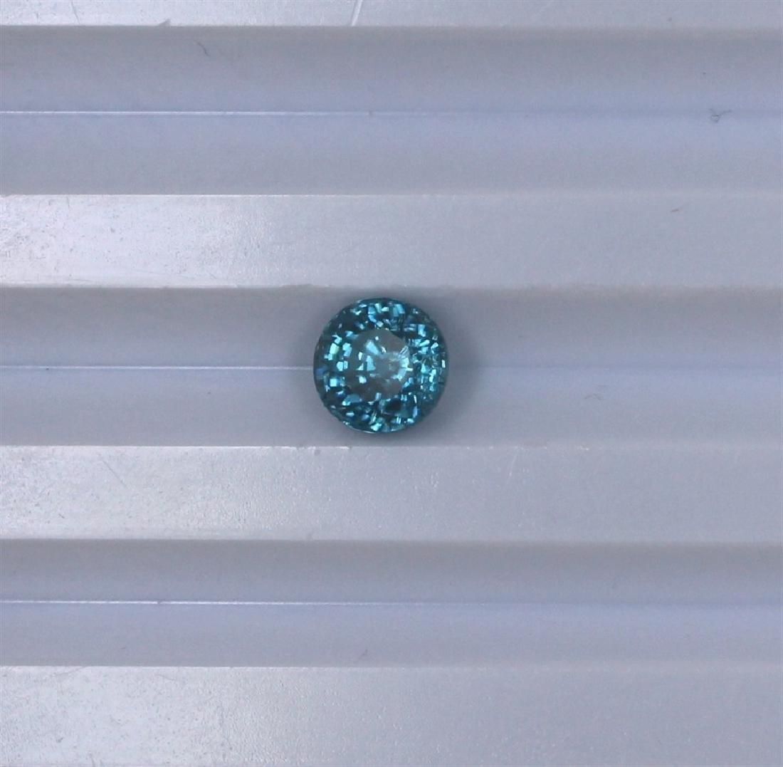 2.47ct Blue Zircon Round cut