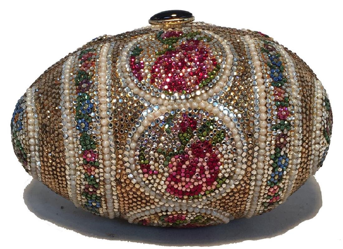 Judith Leiber Pearl Egg Swarovski Crystal Minaudiere