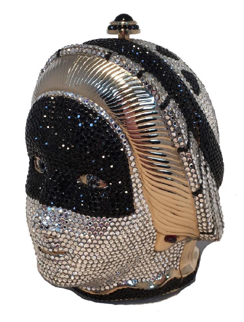 Judith Leiber Swarovski Crystal Queen Head Minaudiere