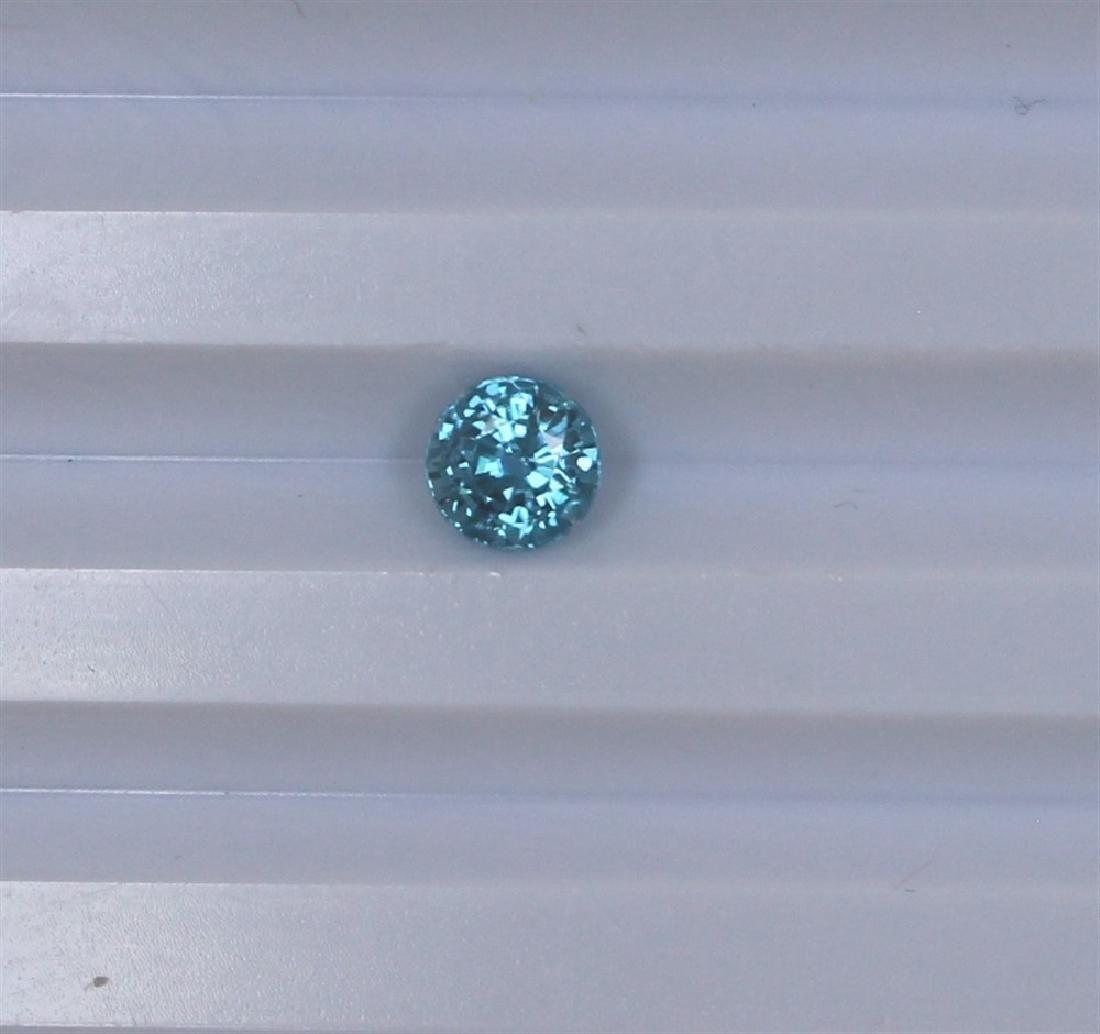 1.65ct Blue Zircon Round cut