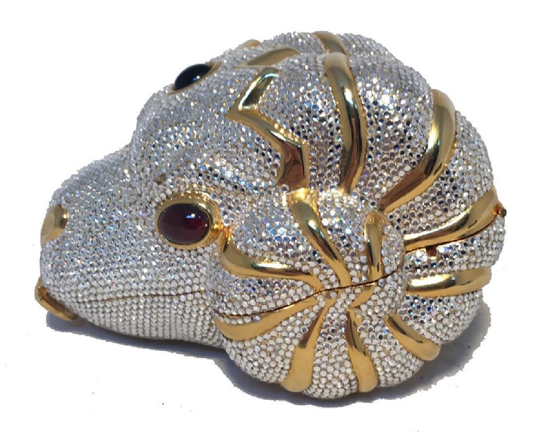 RARE Judith Leiber Swarovski Crystal Ram Head