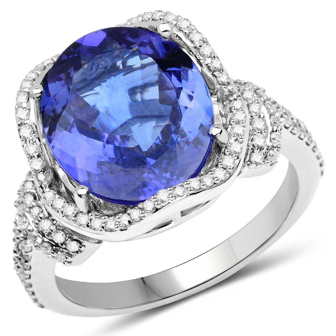 5.37ct Tanzanite 14K White Gold Ring