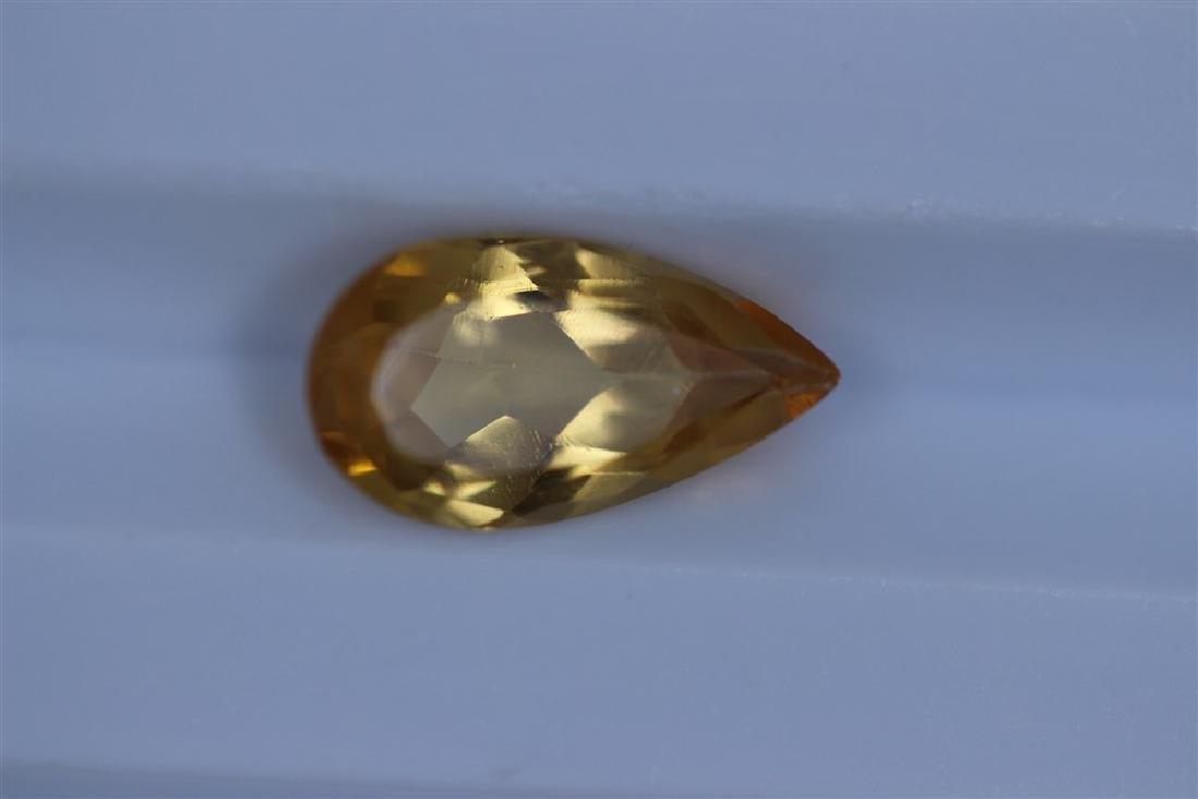 1.82ct Imperial Topaz Pear cut