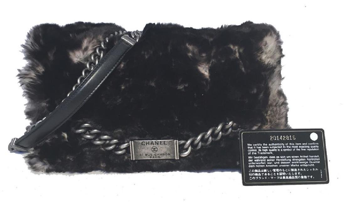 Chanel Chinchilla Fur Classic Flap Shoulder Bag