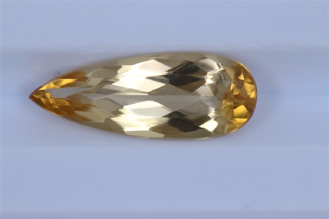 3.33ct Imperial Topaz Pear cut