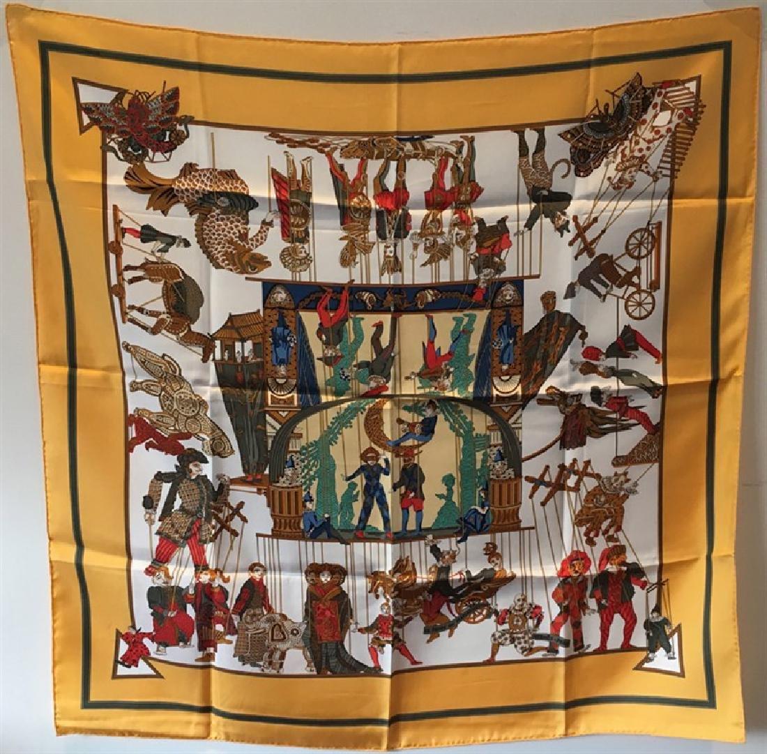 Hermes Vintage Le Temps des Marionnettes Silk Scarf in