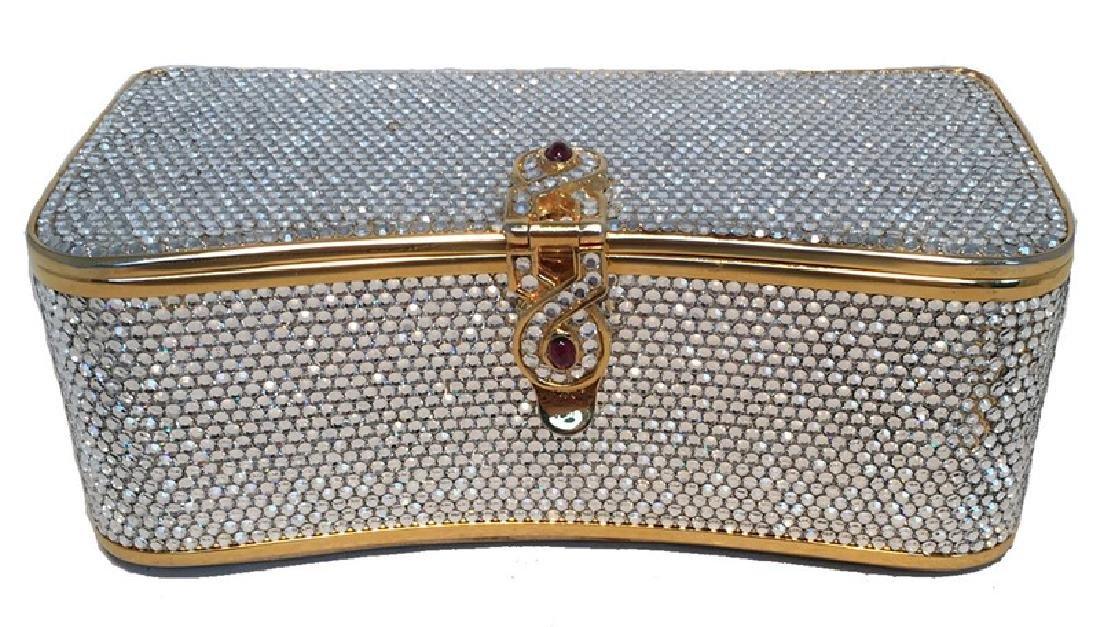 Judith Leiber Vintage Box Clear Swarovski Crystal