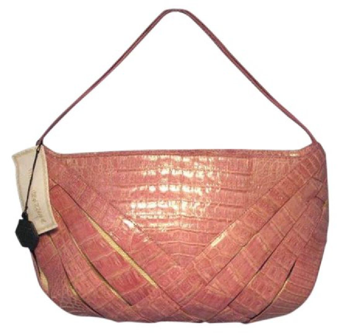 Nancy Gonzalez Pink Crocodile Handbag