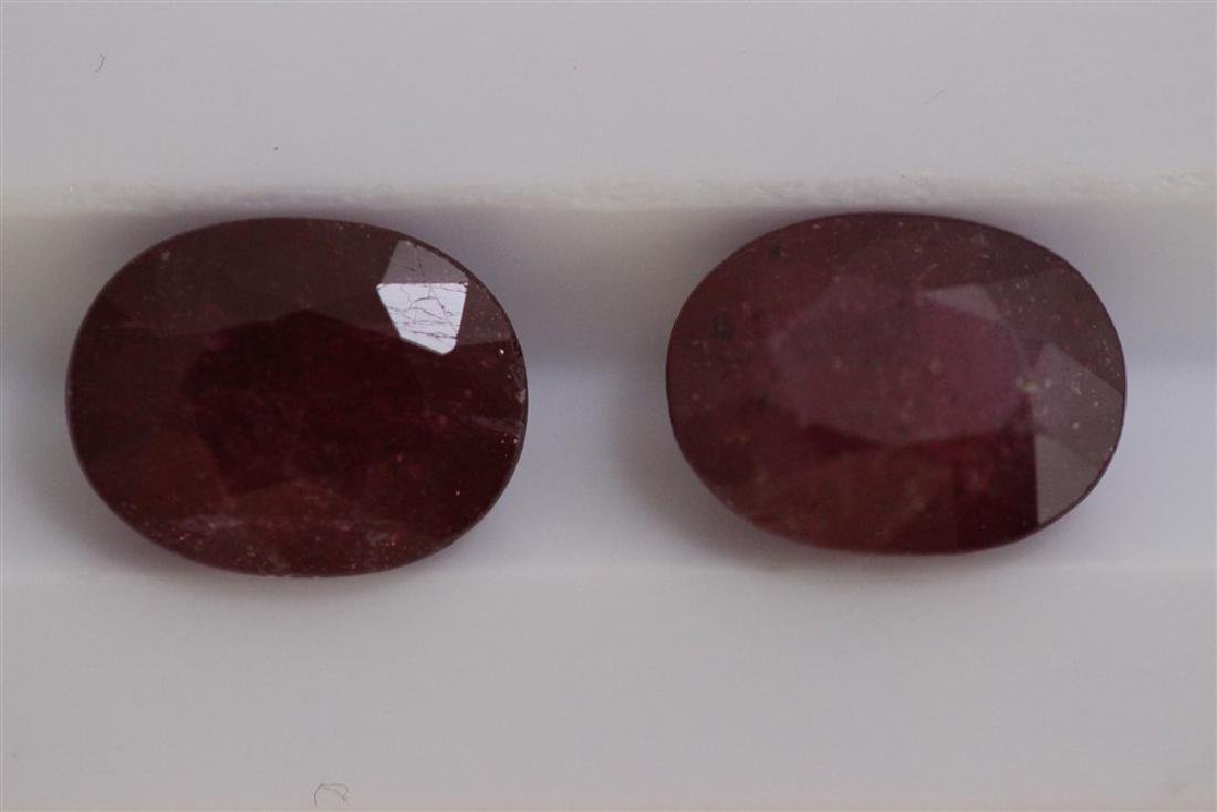 5.18ct Ruby Match pair Oval cut