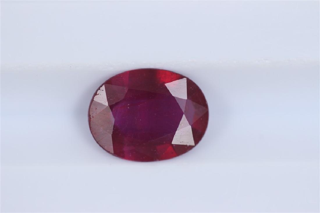 1.72ct Ruby Oval cut