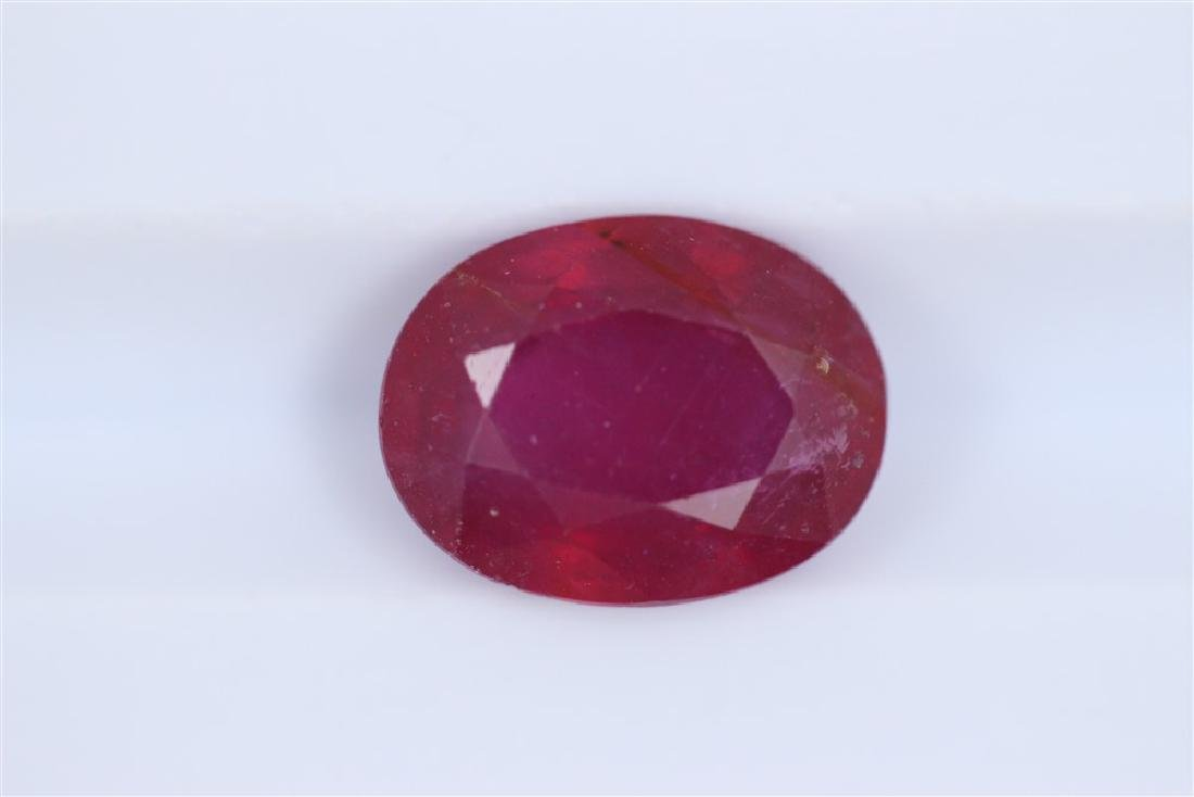3ct Ruby Oval cut
