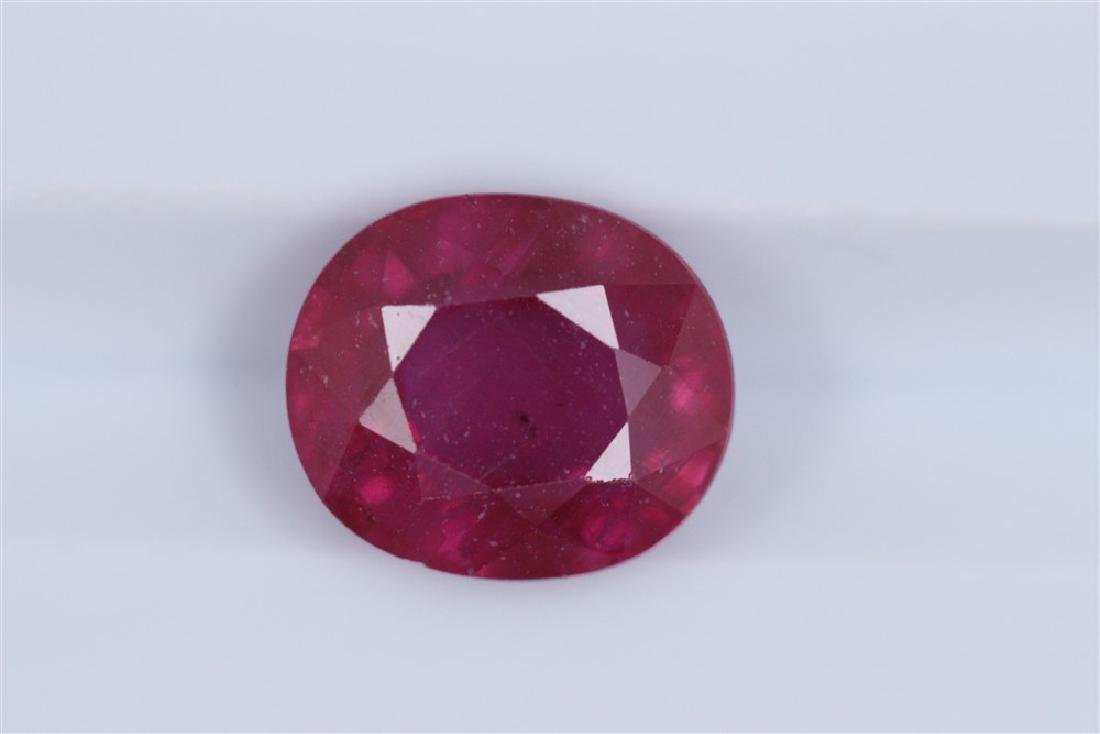 3.72ct Ruby Oval cut