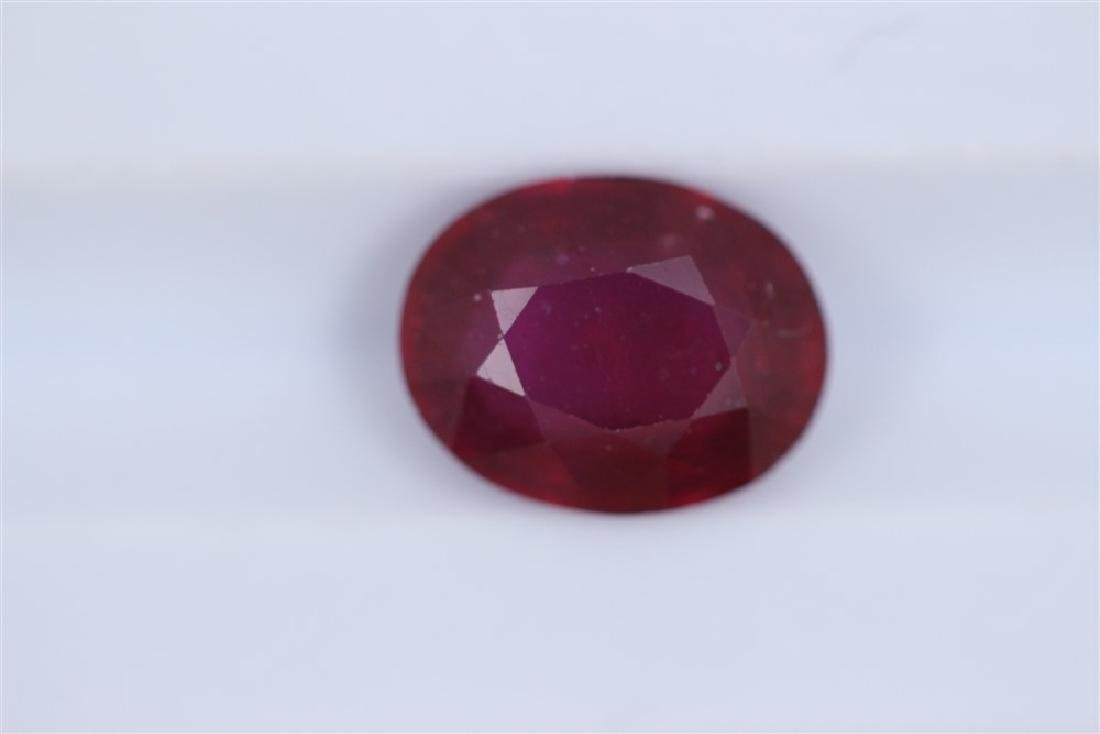 2.64ct Ruby Oval cut