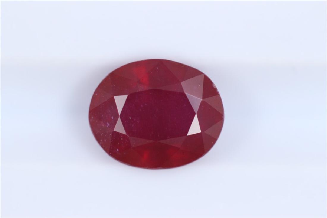 2.55ct Ruby Oval cut