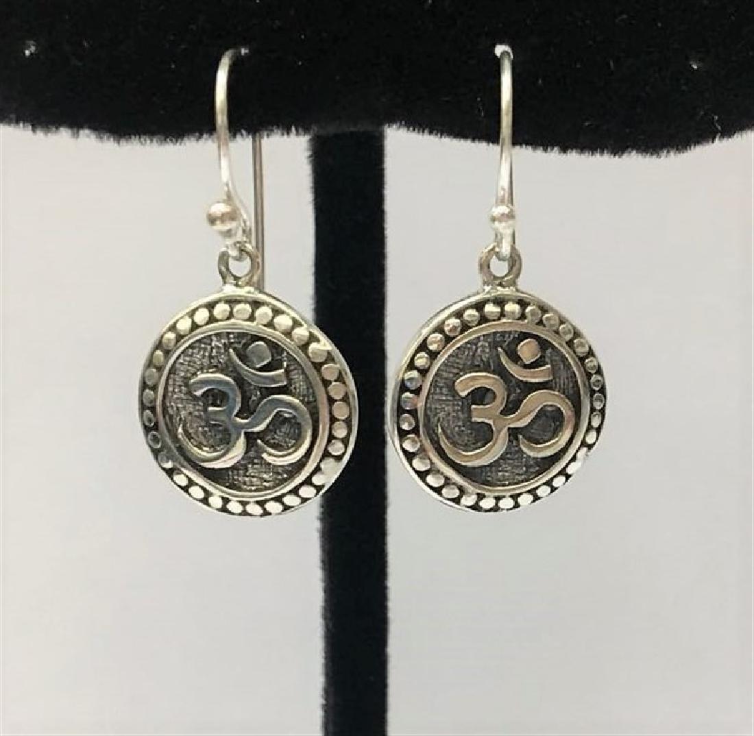 OM Sterling Silver Earring