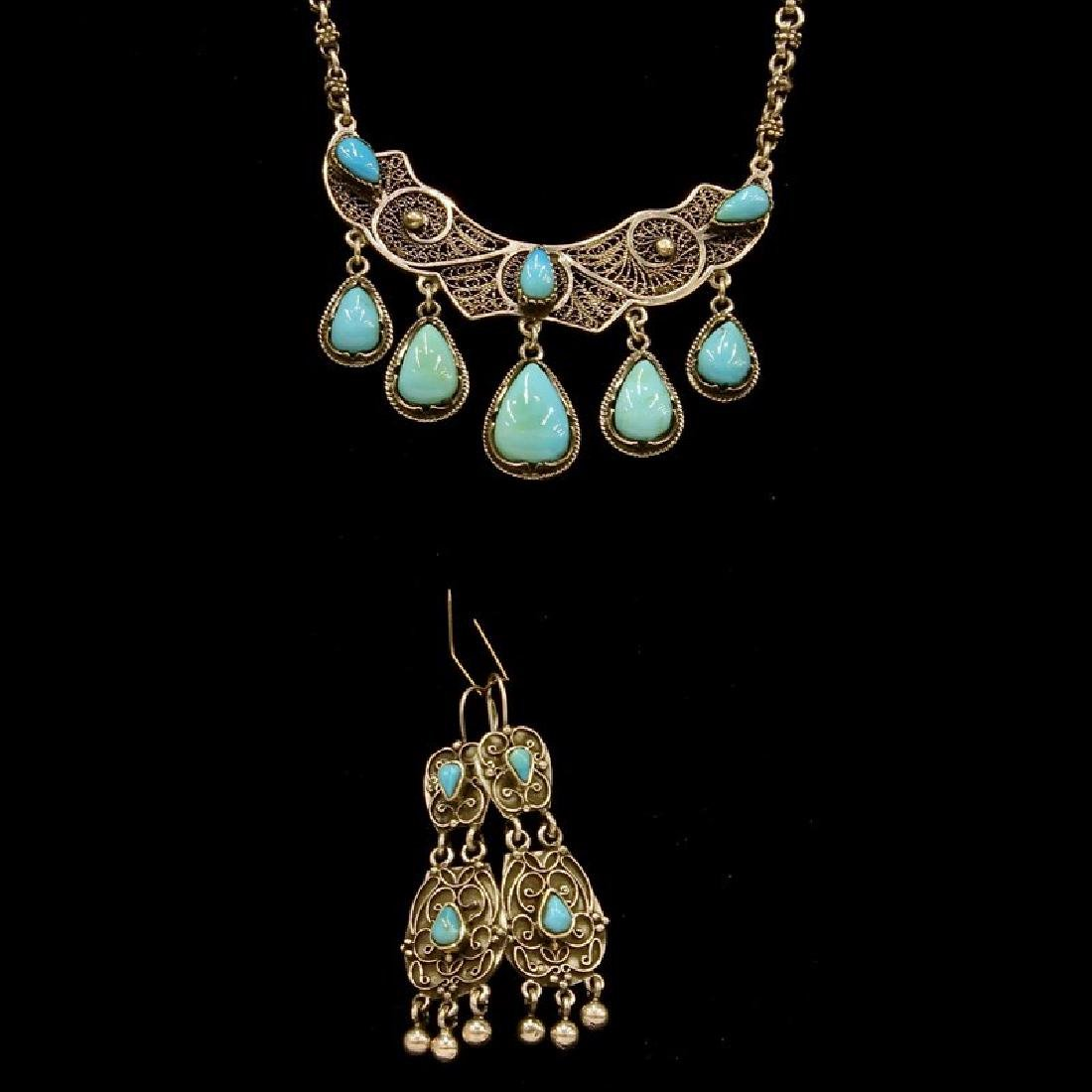 Sleeping Beauty Turquoise Necklace And Earring