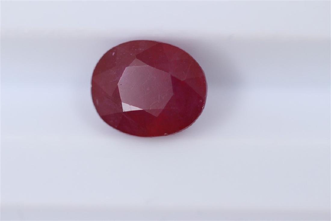 2.92ct Ruby Oval cut