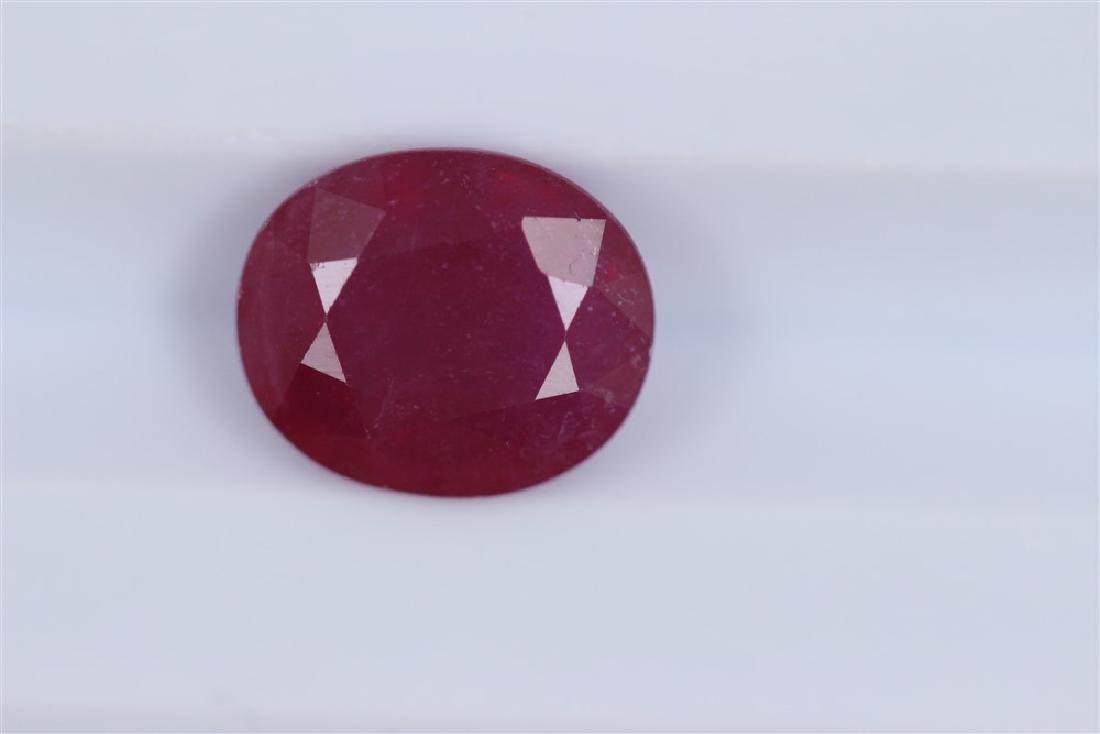 2.74ct Ruby Oval cut