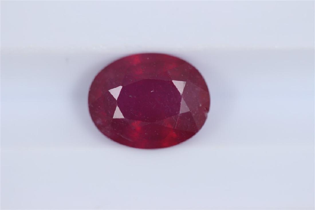 2.53ct Ruby Oval cut