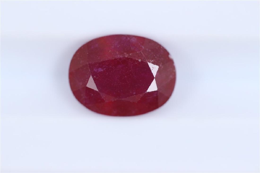 3.57ct Ruby Oval cut