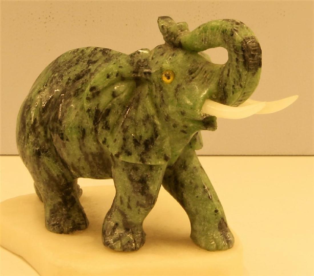"""4"""" Ruby Zoisite Elephant"""