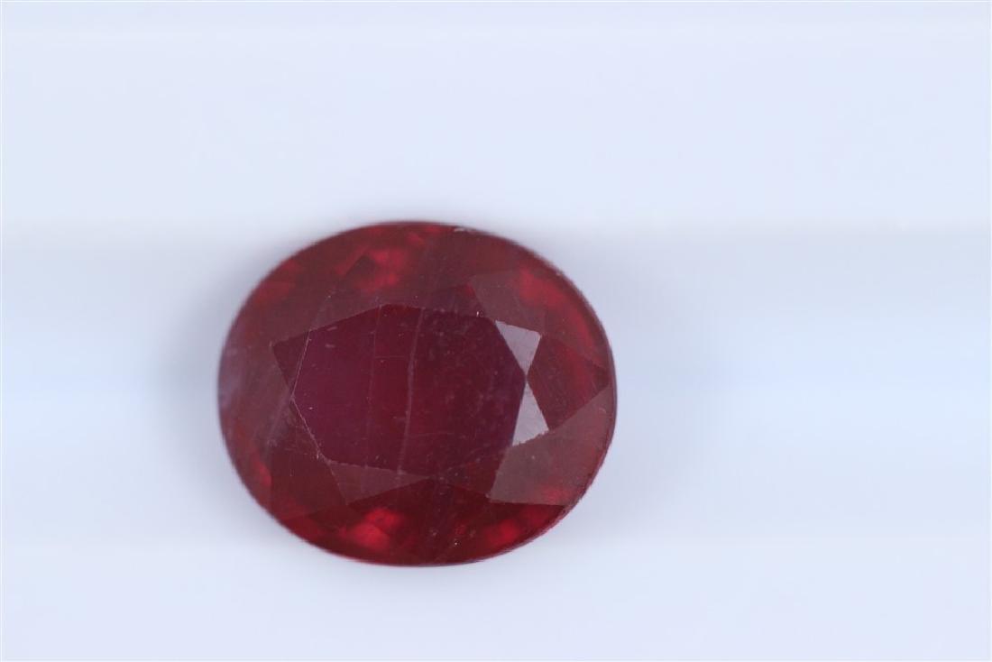 3.53ct Ruby Oval cut