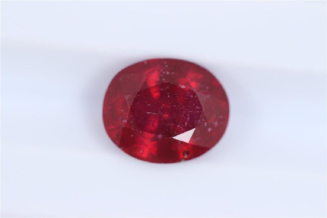 3.13ct Ruby Oval cut