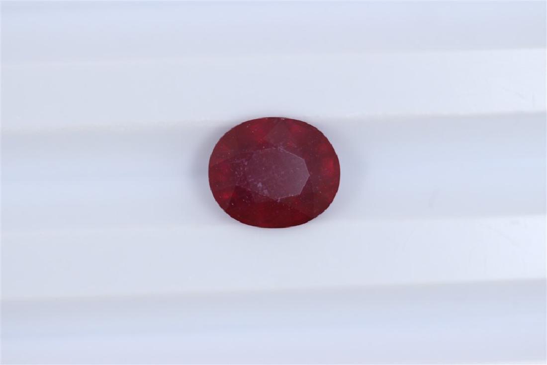 3.77ct Ruby Oval cut